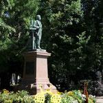 Colmar: Denkmal für Frédéric-Auguste Bartholdi, den Schöpfer der amerikanischen Freiheitsstatue, in seiner Heimatstadt