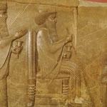 Der persische Großkönig Darius ? auf dem Thron, Nationalmuseum Teheran, Iran
