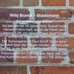 In diesem Haus in Travemünde wohnte der Fischer, der Willy Brandt ins Exil nach Dänemark brachte.