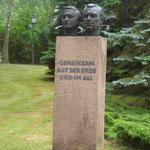 Denkmal für die Kosmonauten Siegfried Jähn und Valeri Bykowski im Wissensschaftspark Albert Einstein, Telegrafenberg Potsdam
