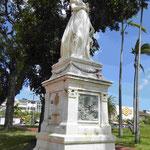 Denkmal in Fort-de-France, Martinique für Napoleons Ehefrau, Kaiserin Josefine, sie stammte aus Martinique, verhinderte die Abschaffung der Sklaverei, dafür wurde ihre Denkmal 1991 geköpft