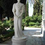 """Denkmal für Kaiserin """"Sissi"""" in ihrem Achillion auf Korfu, Griechenland"""