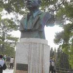 Denkmal für Sir Alfons Evans, den Ausgräber des minoischen Knossos, Kreta, Griechenland