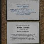 Berliner Gedenktafel und lokale Gedenktafel in der Künstlerkolonie Wilmersdorf