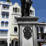 Denkmal für Pedro de Heredia, dem Gründer der komlubianischen Stadt Catagena de Indias
