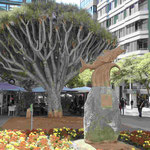 Denkmal für den ehemaligen Fischerort Santa Cruz de Tenerife, deren Einwohner nach dem Fisch El Chicharro benannt werden