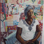 Perlenportait einer afrikanischen Künstlerin, National Galery Kapstadt, Südafrika