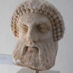 Kopf des Hermes aus der Agora  aus Thassos,  4. Jhddt. v.u.Z., Archäologisches Museum, Griechenland