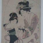 Farbholzschnitt von Utamaro, National Galery Kapstadt, Südafrika