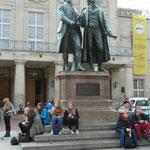 Goethe-Schiller Denkmal in Weimar