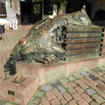 Denkmal für Dürers Hasen am Albrecht-Dürer-Platz in Nürnberg