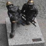 Zwerge in Wroclaw zur Erinnerung an den Studenten-Widerstand gegen das polnische Militärregime 1980
