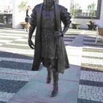 Denkmal für den Entdecker Vasco da Gama, der in Angra Do Heroismo auf tercira, Azoren, einen Zwischenstopp machteeinen Z