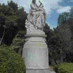 Denkmal für Lord Byron, romantischer Dichter und Philhelene in Athen