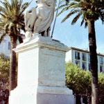 Napoleon in seiner Geburtsstadt  Ajaccio auf Korsika