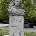 Denkmal für den Dichterfürsten Alexander Tschawtschawadse auf dem Grundstück seines Anwesens in Kachetien
