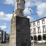 Denkmal für Goncalo Velho Cabral , Mönch und Entdecker der Azoren und ihr erster Gouverneur