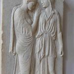 Die Stele von Krito und Timarista, Archäologisches Museum Rhodos, Griechenland
