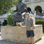 Denkmal für Aristoteles in Saloniki, Griechenland