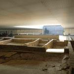 Ruine der Gaskammer, der Erschießungsräume und der Krematorien in der Gedenkstätte KZ Sachsenhausen