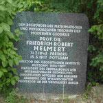 Denkmal für Prof. Dr. Friedrich Robert Helmert, Begründer der modernen Geodäsie, im Wissensschaftspark Albert Einstein, Telegrafenberg Potsdam