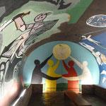 Pablo Picasso, Krieg und Frieden, Wandmalerei in Vallauris, Südfrankreich
