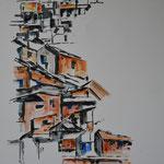 encre de chine, aquarelle 50x70