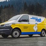 Beschriftung VW Transporter Firma Ruoff Grindelwald