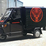 Autowerbung Jägermeister APE Piaggo