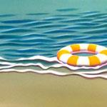 ビーチ(45.0×91.0cm)