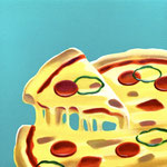 ピザ(30.0×30.0cm)
