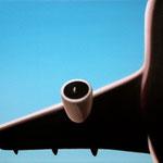 旅客機(60.6×72.7cm)