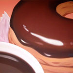 ドーナツとコーヒー(72.7×91.0cm)