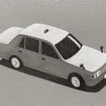 タクシー(20.0×30.0cm)