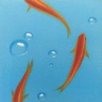 金魚(22.7×22.7cm)