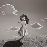 日傘をさす女(91.0×91.0cm)
