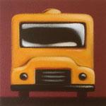おもちゃのバス(22.7×22.7cm)