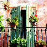 Fensterläden meets rosa - Bardolino, Gardasee