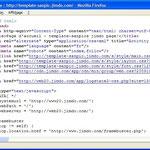 Étape 3: Visualisation du code xHTML d'une page web
