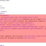 Code xHTML à suppimer. Il représente le contenu de la page