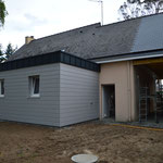 extension bois, bardage cédral