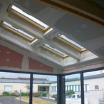 Habillage fenêtre de toît, isolation des plafonds