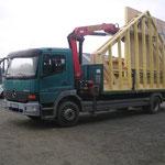 Transport d'une ossature bois