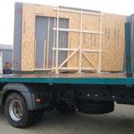 Transport des panneaux ossature bois