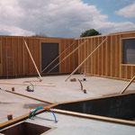 Fixation des murs ossature bois