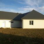 Maison terminée, vue de l'arrière