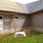 Vue arrière de la maison ossature bois