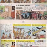 Página 29: Arriba, la versión anterior a las modificaciones: rótulos en amarillo y viñeta modificada (portero del hotel)