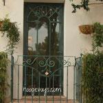 Porte vitrée avec décoration XIXème