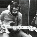 Hans van Eijk in de Phonogram studio (begin 1975)